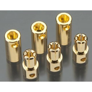 Solid High Power 5,5 mm Gold Connector 3 Paare