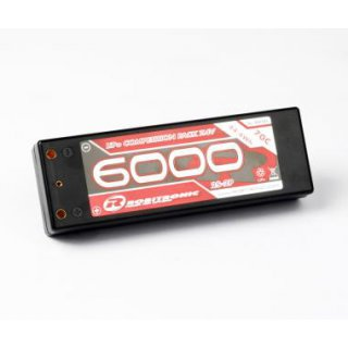 LiPo 7,4V, 6000 mAh, 70C, 2S-2P,Competition Pack