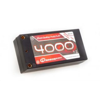 LiPo 7,4V, 4000 mAh, 60C, 2S-1P Short Racing Pack